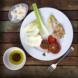 Fennel and Celery Plate Lunch Recipe