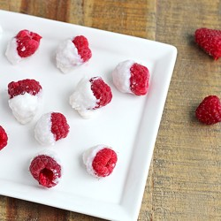 Frozen Raspberries with Coconut Butter Recipe