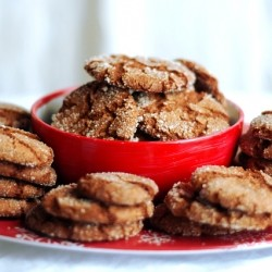 Ginger Snaps Holiday Cookies