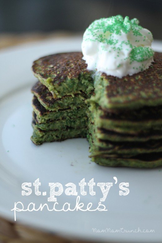 Green Spinach Banana Pancakes