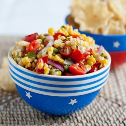 Grilled Sweet Corn and Tomato Salsa Recipe