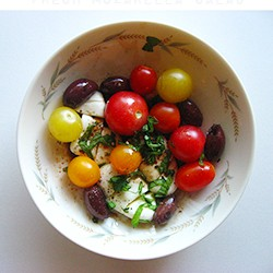 Heirloom Cherry Tomatoes and Fresh Mozzarella Recipe