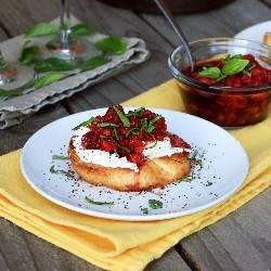Italian Strawberry Bruschetta