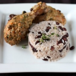 Jerk Chicken with Rice and Black Beans
