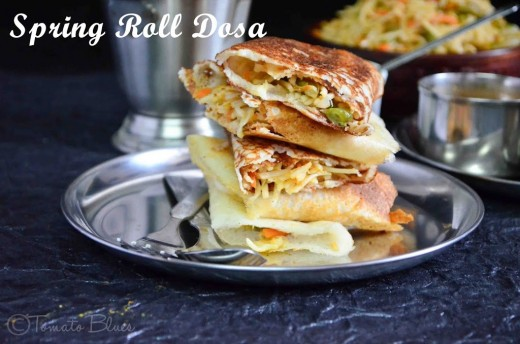 Lentil Crepes with Spring Roll Indo Chinese Recipe