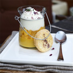 Mango and Orange Blossom Pudding
