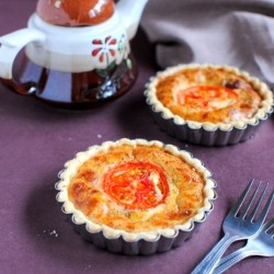 Mini Cheese and Tomato Quiche