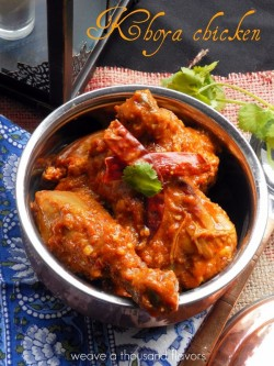 North Indian Style Khoya Chicken