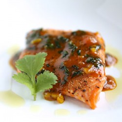 Orange Curried Cilantro Salmon
