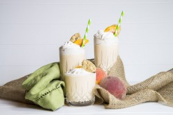 Peach Milkshake with Cinnamon Whipped Cream Recipe