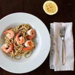 Pistachio Pesto Pasta with Shrimp Recipe