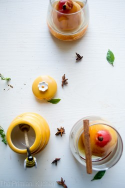 Poached Pears in Spice and Wine Recipe