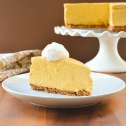 Pumpkin Cheesecake with Pecan Graham Cracker Crust Recipe