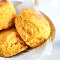 Pumpkin Ginger Beer Scones