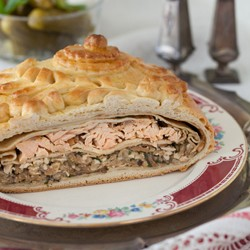 Salmon Rice Pie Recipe