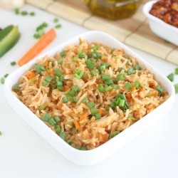 Schezwan Fried Rice Vegetarian Recipe