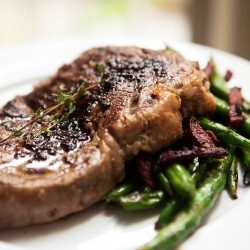 Scotch Fillet of Beef with Green Beans