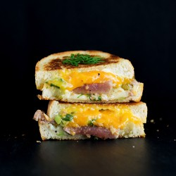 Seared Tuna Melt Grilled Cheese Sandwich Recipe