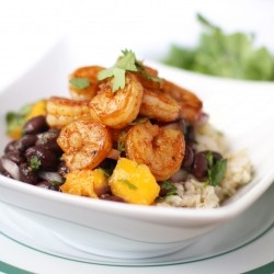 Shrimp Mango and Black Bean Bowl Recipe