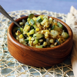 Skillet Corn with Zucchini Onions Recipe