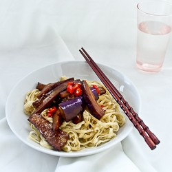 Spicy Eggplant Noodles Recipe