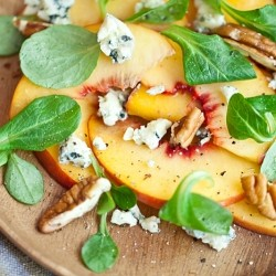 Spicy Pickled Peach Salad
