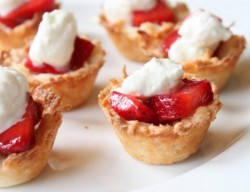 Strawberry Coconut Macaroon Tartlets