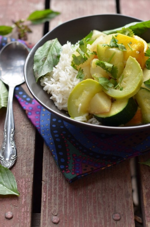 Thai Green Curry with Turnips and Summer Squash Recipe