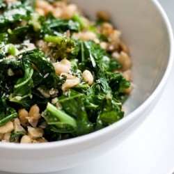 Toasted White Beans and Greens