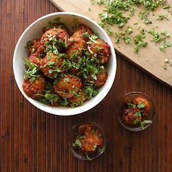 Tomato Tamarind Potatoes Recipe