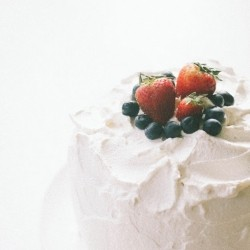 Triple Berry Chiffon Cake Recipe