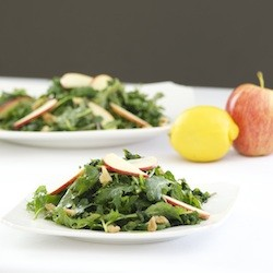Apple Walnut Massaged Kale Salad