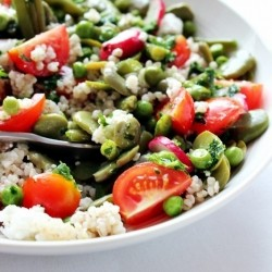 Barley Green Bean and Tomato Salad Recipe