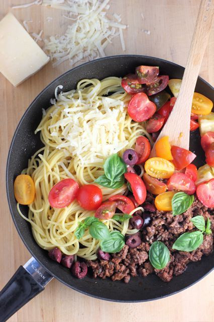 Beef Basil and Tomato pasta Recipe