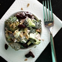Broccoli Salad with Raisins and Sunflower Seeds Recipe