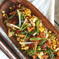 Chantrelle Mushroom Sweet Corn Stir-fry Recipe