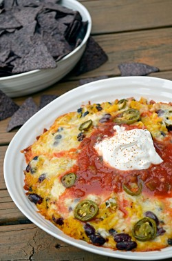 Cheesy Baked Rice and Bean Dip Recipe
