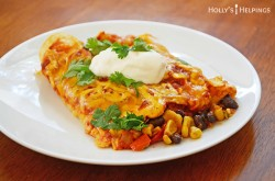 Cheesy Enchiladas with Corn and Black Beans Recipe
