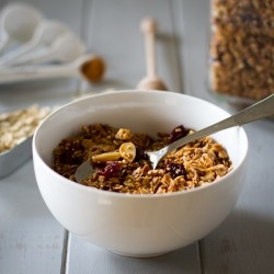 Cherries Almonds Oats and Quinoa Breakfast Recipe