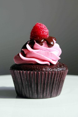 Chocolate Cupcake with Raspberry Buttercream and Chocolate Ganache
