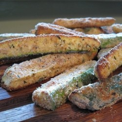 Crispy Zucchini Oven Fries with Parmesan