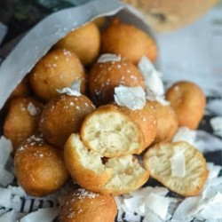 Deep Fried Coconut Milk Dough