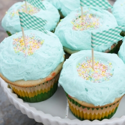 Funfetti Cupcakes with Whipped Vanilla Frosting Recipe