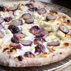 Grape and Feta Pizza