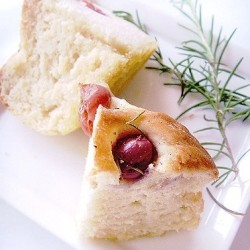 Grape Rosemary Focaccia Bread