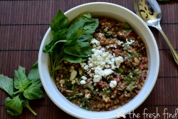 Lentil Bruschetta Basil Salad Recipe