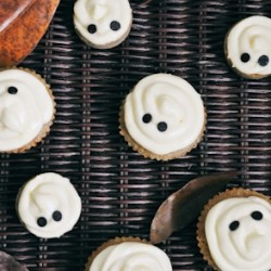 Maple Cinnamon Cupcakes with Ginger Cream Cheese Frosting