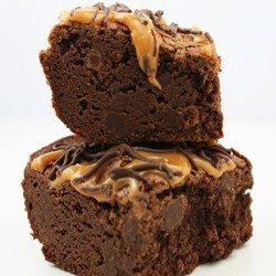 Over the Top Fudge Caramel Brownies
