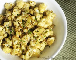 Pan Roasted Cauliflower Recipe