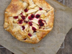 Pear Raspberry Candied Ginger Galette Recipe